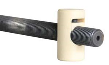 The custom production of the drylin® lead screw units Anti-backlash lead screw nut.