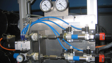Picture of the format adjustment using the drylin® linear unit